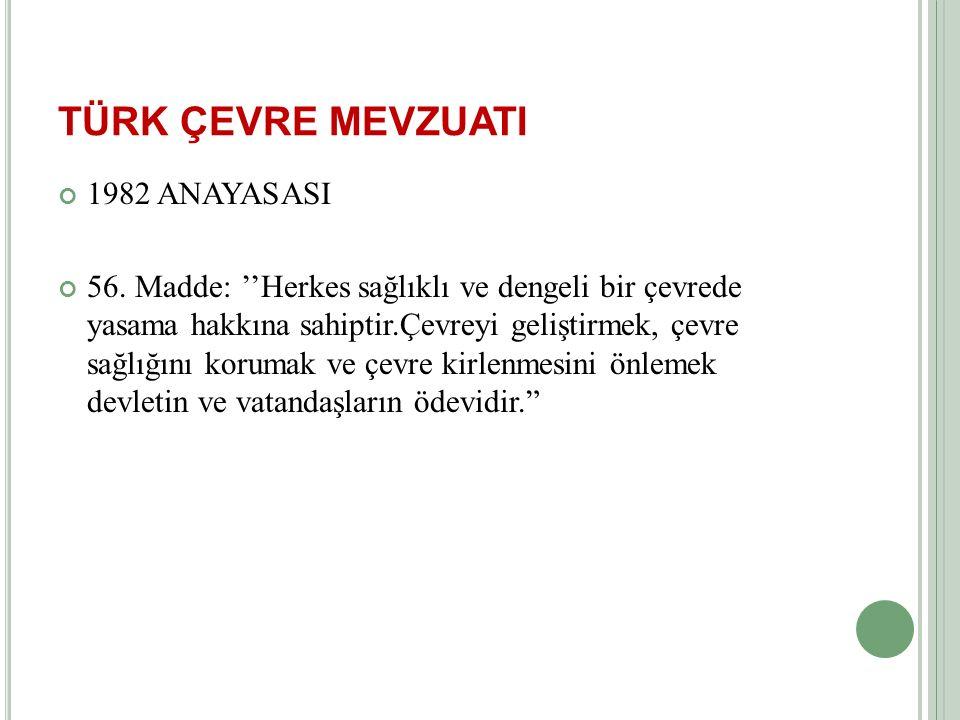 ÇEVRE YÖNETİM SİSTEMLERİ VE ÇEVRE BOYUTU 3.