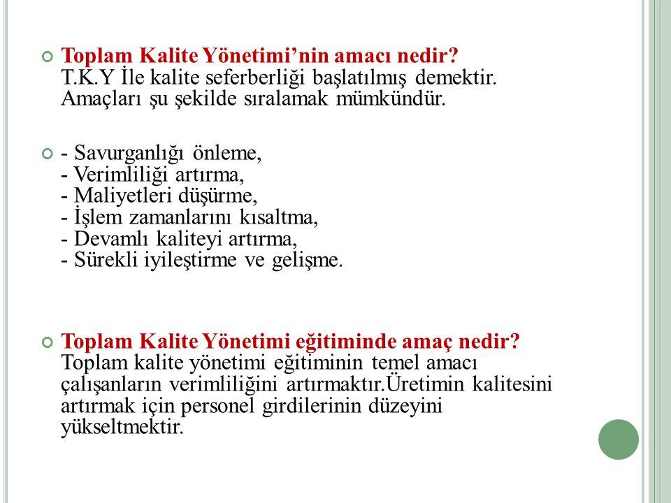 T OPLAM K ALITE Y ÖNETIMI TKY NEDIR .
