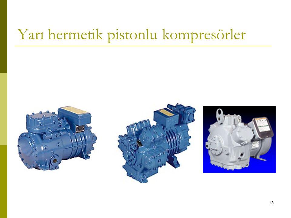 12 Açık tip pistonlu kompresörler