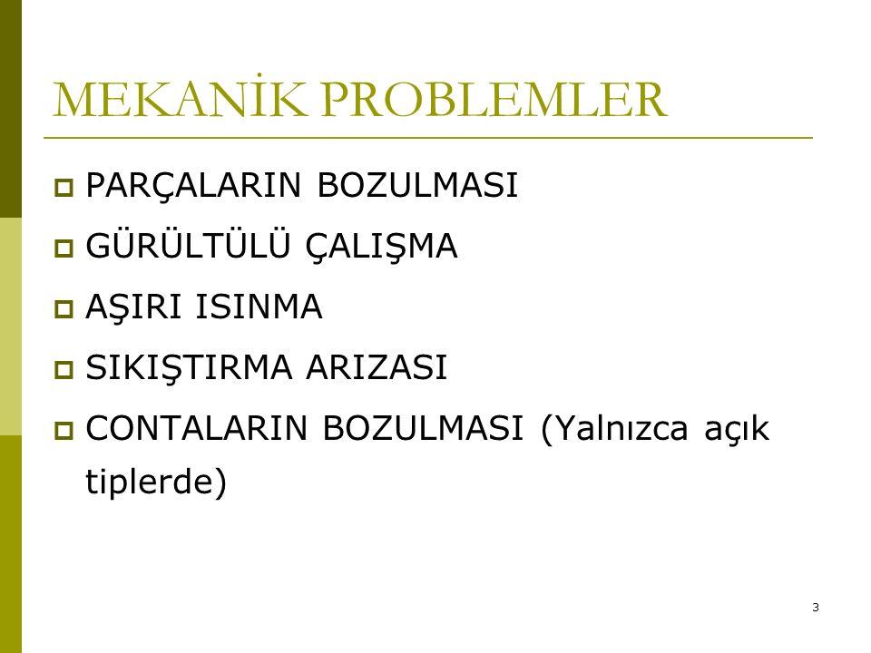 73 ELEKTRİK PROBLEMLERİ Mekanik problemler beş ana grupta toplanırken elektrikle ilgili problemler sonsuz sayıdadır.