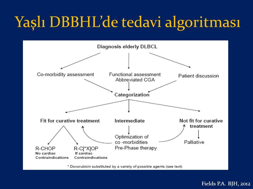 Yaşlı DBBHL'de tedavi algoritması Fields P.A. BJH, 2012