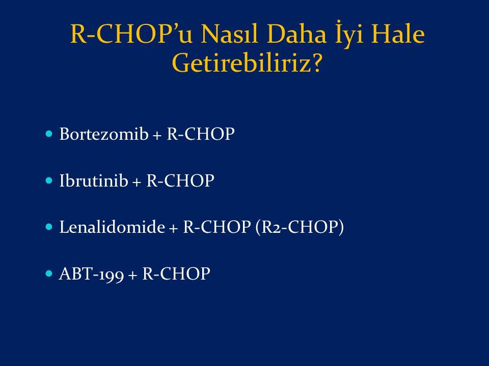 Bortezomib + R-CHOP Ibrutinib + R-CHOP Lenalidomide + R-CHOP (R2-CHOP) ABT-199 + R-CHOP R-CHOP'u Nasıl Daha İyi Hale Getirebiliriz?
