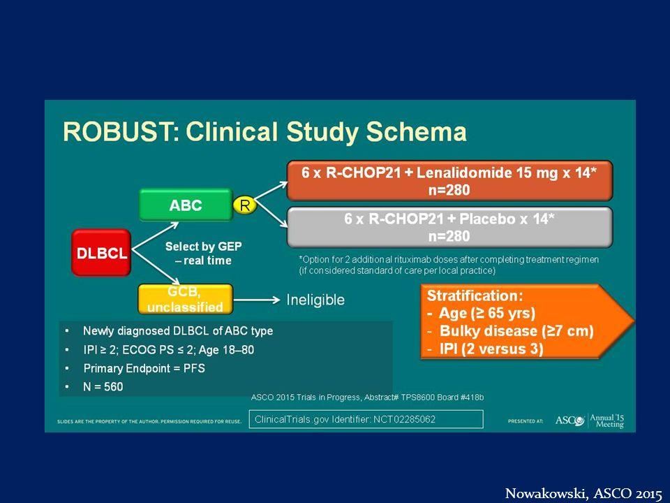 ROBUST: Clinical Study Schema Nowakowski, ASCO 2015