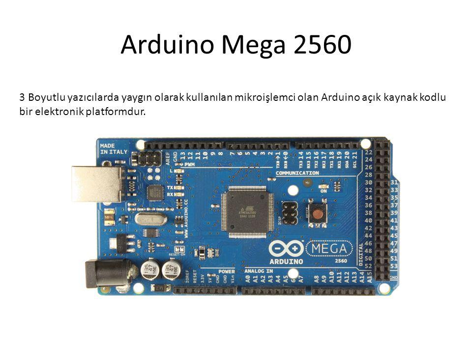 Arduino Mega 2560 3 Boyutlu yazıcılarda yaygın olarak kullanılan mikroişlemci olan Arduino açık kaynak kodlu bir elektronik platformdur.