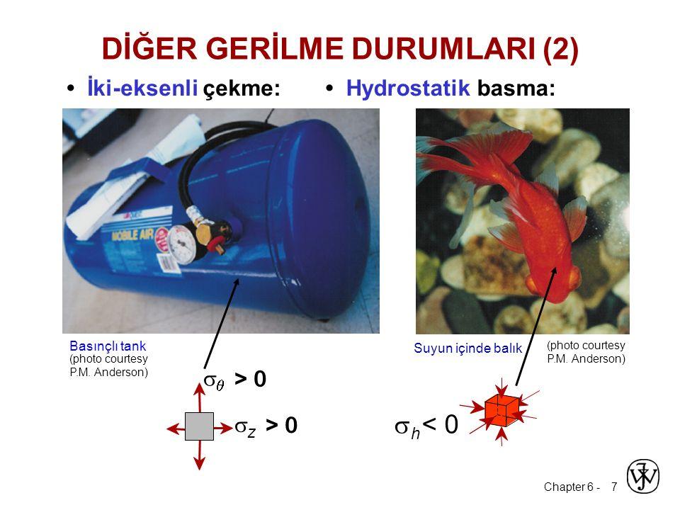 Chapter 6 - 7 İki-eksenli çekme: Hydrostatik basma: Basınçlı tank   < 0 h (photo courtesy P.M. Anderson) (photo courtesy P.M. Anderson) DİĞER GERİLM