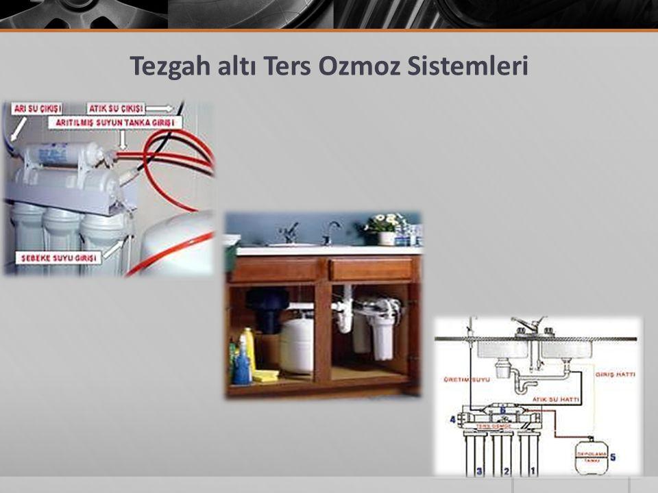 Tezgah altı Ters Ozmoz Sistemleri