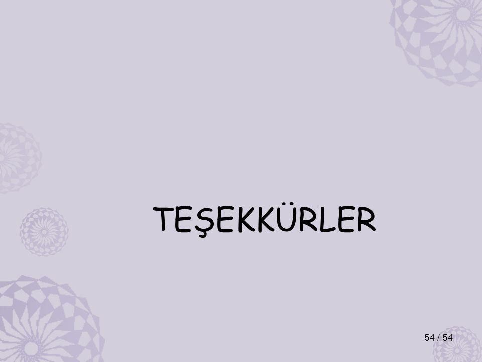 TEŞEKKÜRLER 54 / 54
