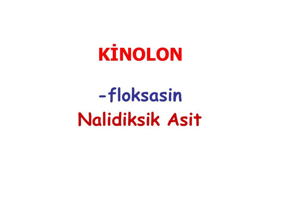 -floksasin Nalidiksik Asit KİNOLON
