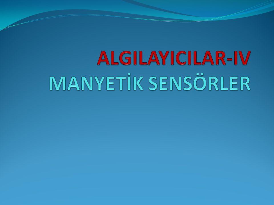 Manyetik Sensörlerin Sınıflandırılması 1.Bobinli basit manyetik sensör 2.