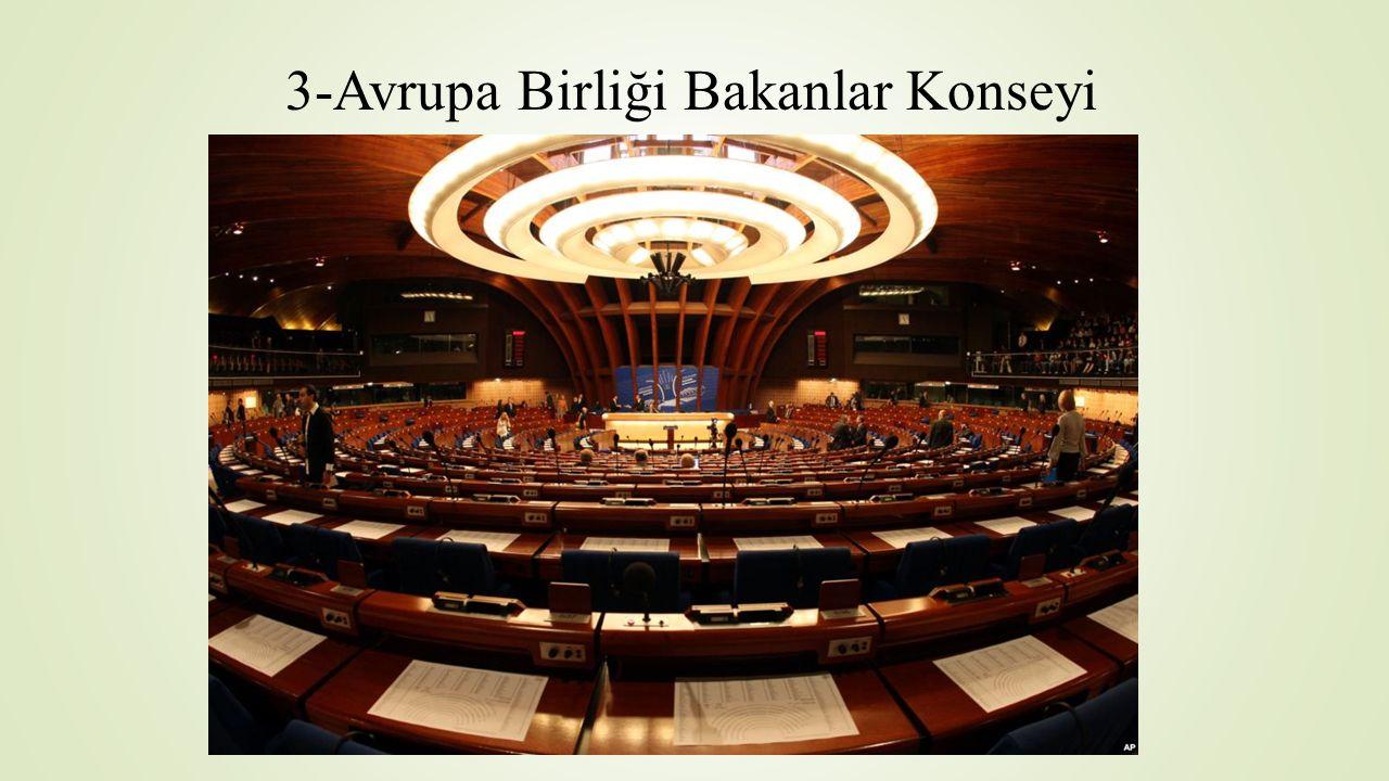3-Avrupa Birliği Bakanlar Konseyi