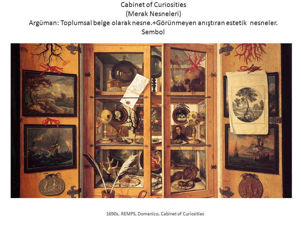 Cabinet of Curiosities (Merak Nesneleri) Argüman: Toplumsal belge olarak nesne.+Görünmeyen anıştıran estetik nesneler.