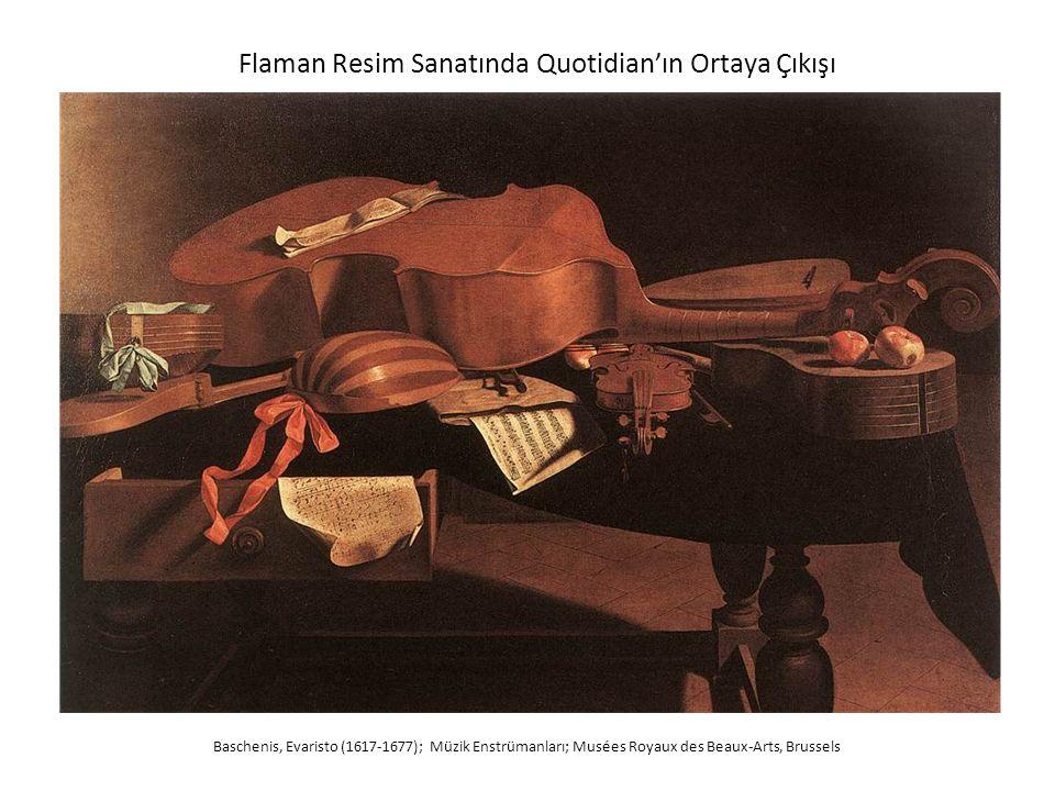 Flaman Resim Sanatında Quotidian'ın Ortaya Çıkışı Baschenis, Evaristo (1617-1677); Müzik Enstrümanları; Musées Royaux des Beaux-Arts, Brussels