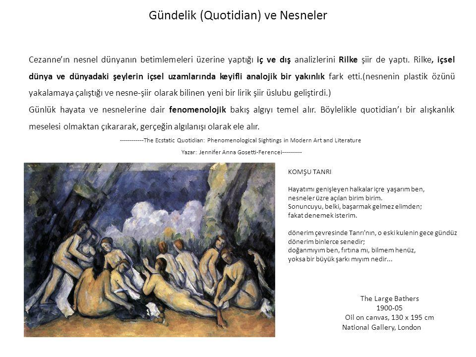 Gündelik (Quotidian) ve Nesneler Cezanne'ın nesnel dünyanın betimlemeleri üzerine yaptığı iç ve dış analizlerini Rilke şiir de yaptı.