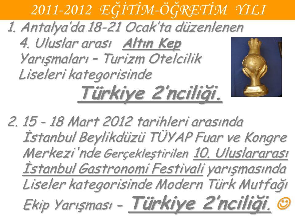 2011-2012 EĞİTİM-ÖĞRETİM YILI 1. Antalya'da 18-21 Ocak'ta düzenlenen 4.