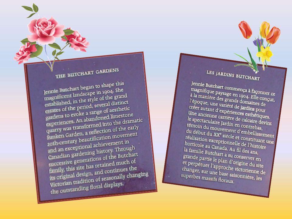 Butchart bahçeleri Kanada Vancover adasında Victoria şehrinde 22 000 metre karelik doğal sit alanı olarak korunan bu bahçeler ağaç ve çiçeklerin muhteşem uyumunu ve renk cümbüşünü izleyebileceğiniz dünyaca ünlü bir doğa harikasıdır.İtalyan bir aile tarafından önce özel mülk olarak inşa edilmiştir.