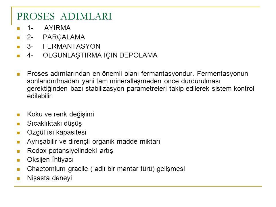 PROSES ADIMLARI 1- AYIRMA 2- PARÇALAMA 3- FERMANTASYON 4- OLGUNLAŞTIRMA İÇİN DEPOLAMA Proses adımlarından en önemli olanı fermantasyondur. Fermentasyo