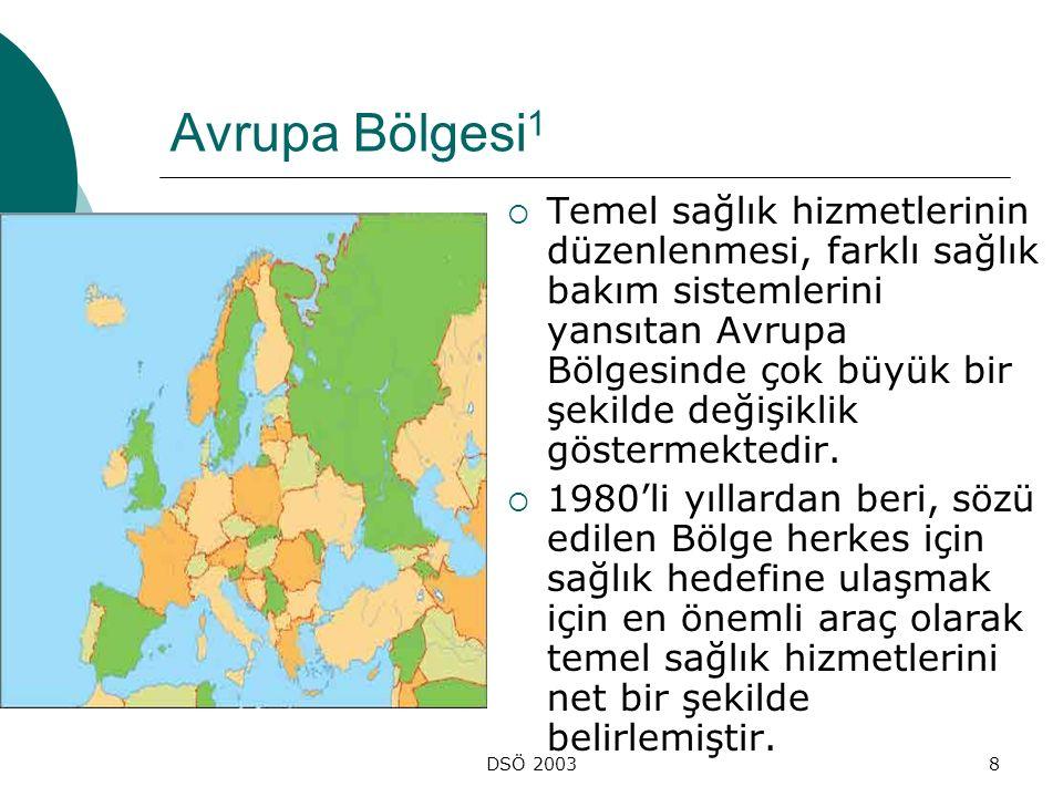 DSÖ 20039 Avrupa Bölgesi 2  Geniş siyasi değişikliklerin sağlık bakım sistemlerini etkilediği Doğu Avrupa'da, temel sağlık hizmetleri tarafından sağlanan destek önemlidir.