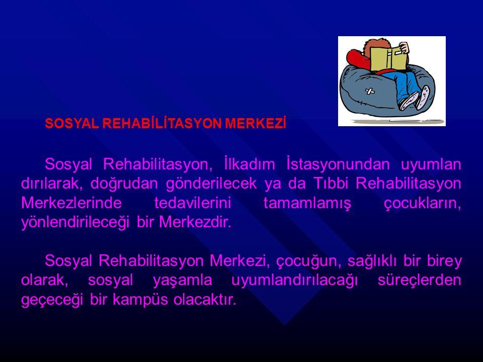 SOSYAL REHABİLİTASYON MERKEZİ Sosyal Rehabilitasyon, İlkadım İstasyonundan uyumlan dırılarak, doğrudan gönderilecek ya da Tıbbi Rehabilitasyon Merkezl