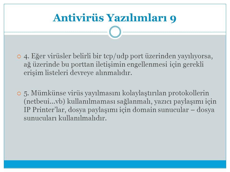 Antivirüs Yazılımları 9  4.