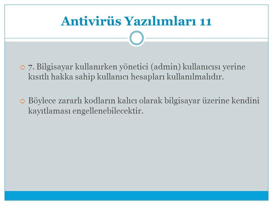 Antivirüs Yazılımları 11  7.