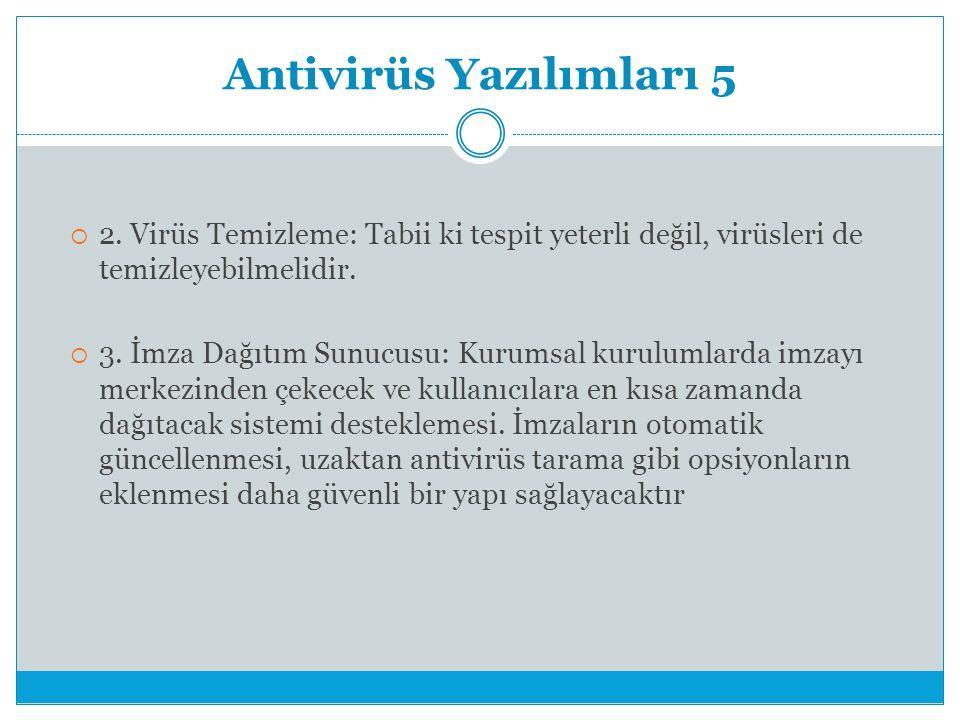 Antivirüs Yazılımları 5  2.
