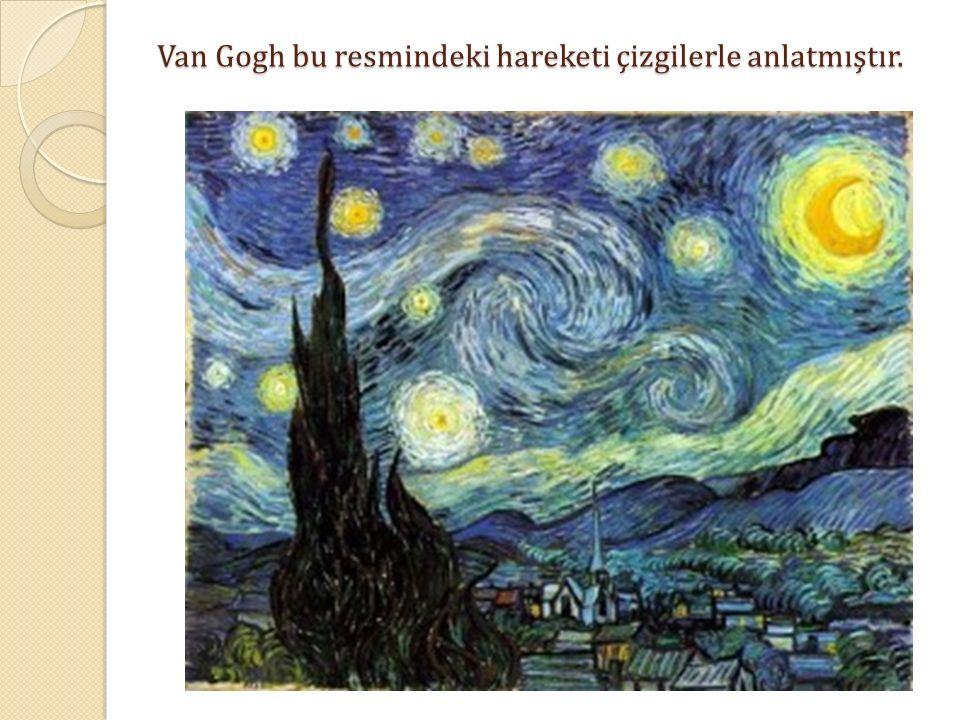 Van Gogh bu resmindeki hareketi çizgilerle anlatmıştır.