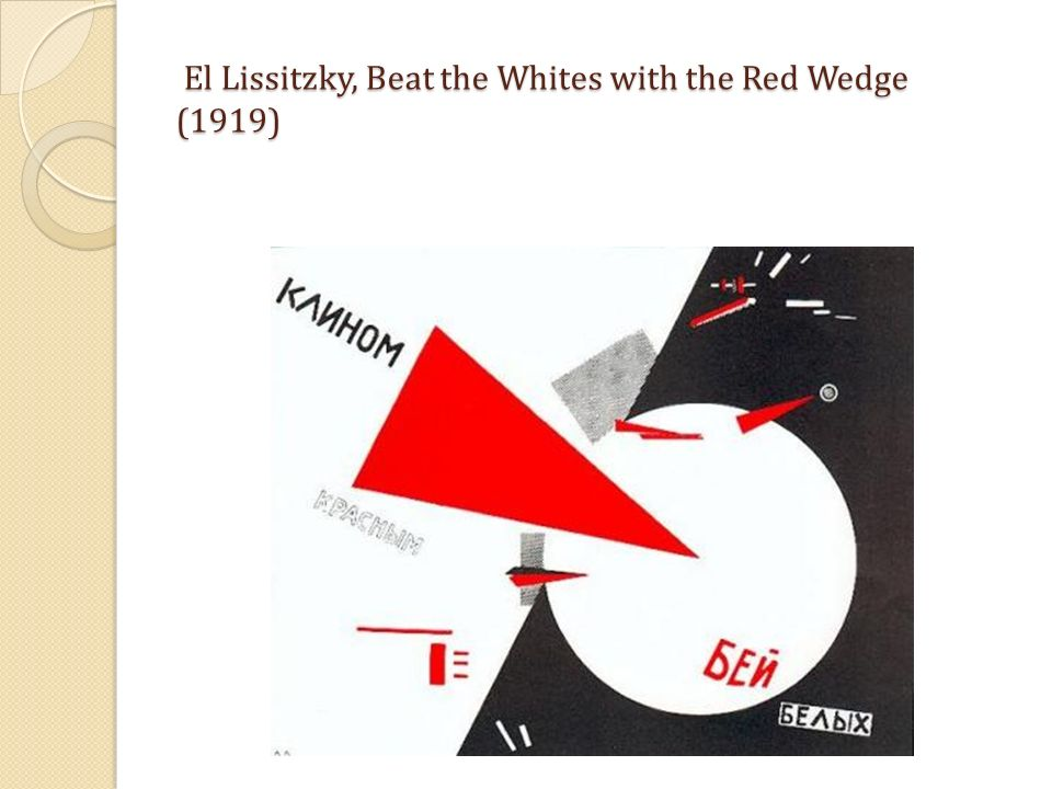 El Lissitzky, Beat the Whites with the Red Wedge (1919) El Lissitzky, Beat the Whites with the Red Wedge (1919)