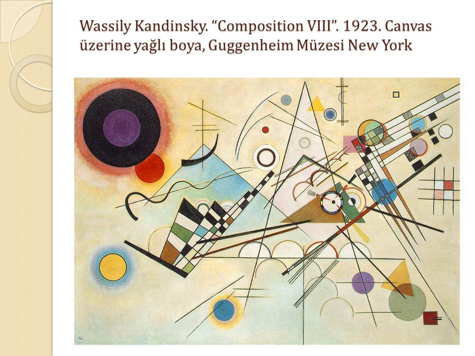 """Wassily Kandinsky. """"Composition VIII"""". 1923. Canvas üzerine yağlı boya, Guggenheim Müzesi New York"""