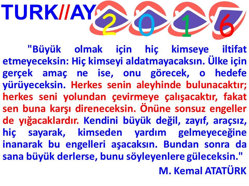 TURK//AY 2 0 1 6