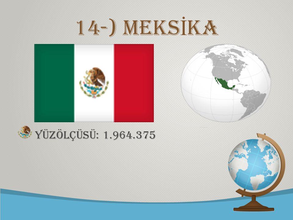 © free-ppt-templates.com 14-) mEKS İ KA Yüzölçüsü: 1.964.375