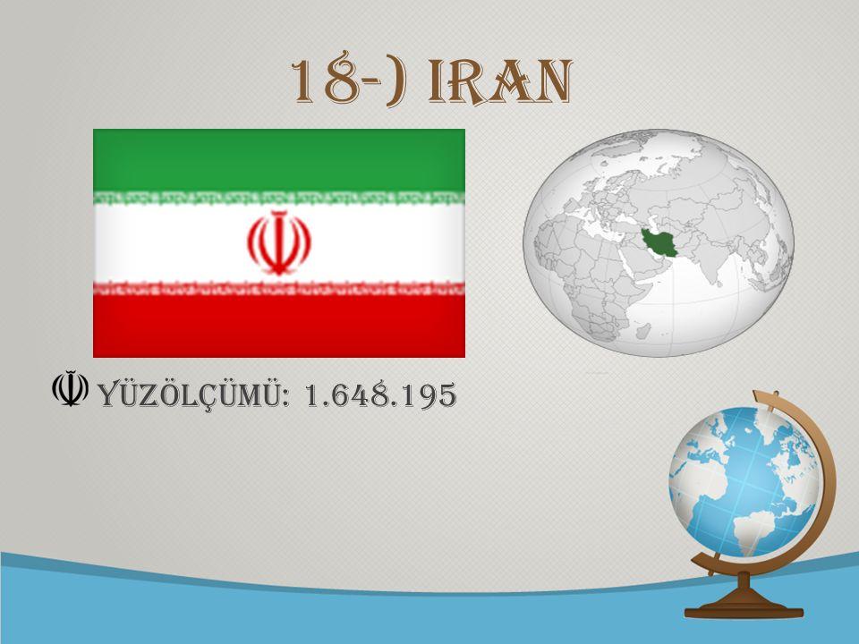 © free-ppt-templates.com 18-) iran yüzölçümü: 1.648.195