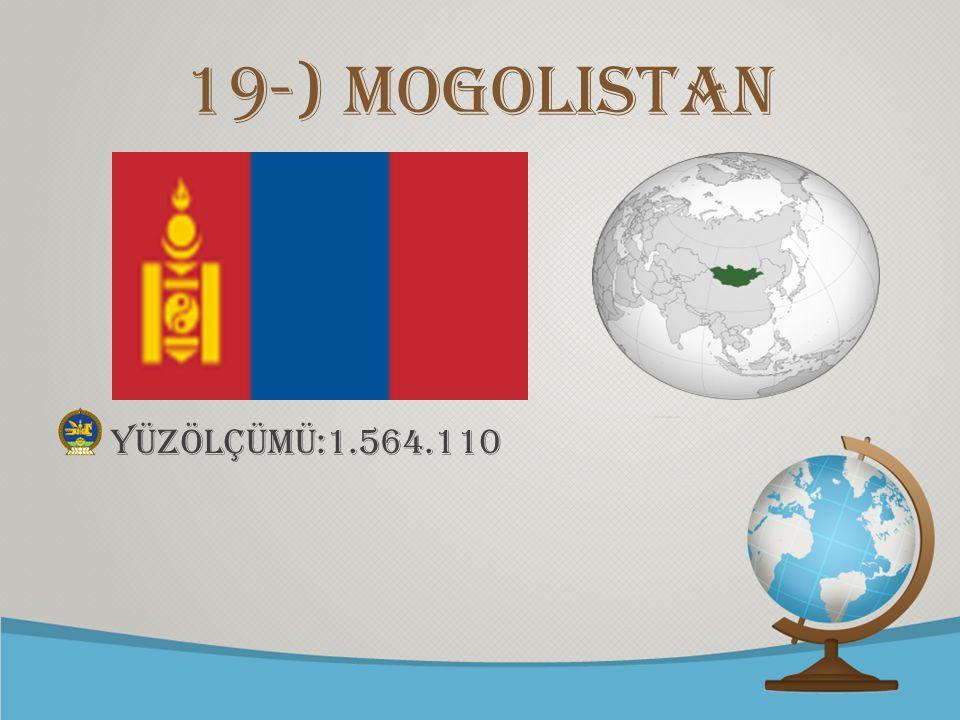 © free-ppt-templates.com 19-) Mogolistan yüzölçümü:1.564.110
