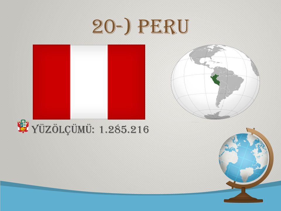 © free-ppt-templates.com 20-) Peru Yüzölçümü: 1.285.216