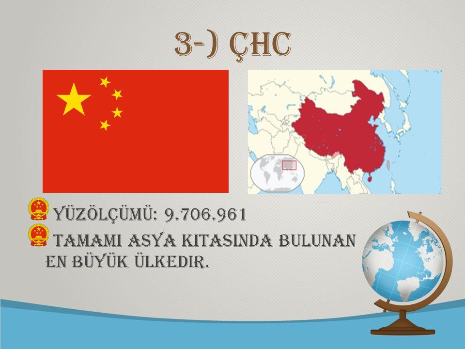© free-ppt-templates.com 3-) ÇHC Yüzölçümü: 9.706.961 TamamI Asya kItasInda bulunan en büyük ülkedir.