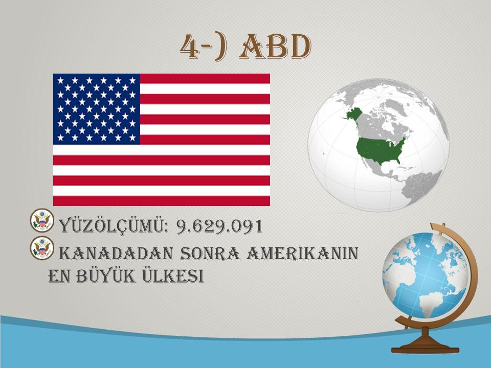 © free-ppt-templates.com 4-) ABD Yüzölçümü: 9.629.091 KANADADAN SONRA AMERIKANIN EN BÜYÜK ÜLKESI