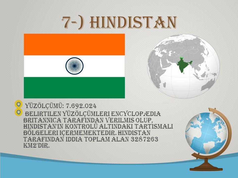© free-ppt-templates.com 7-) hindistan Yüzölçümü: 7.692.024 Belirtilen yüzölçümleri Encyclopædia Britannica tarafIndan verilmis olup, Hindistan'In kon