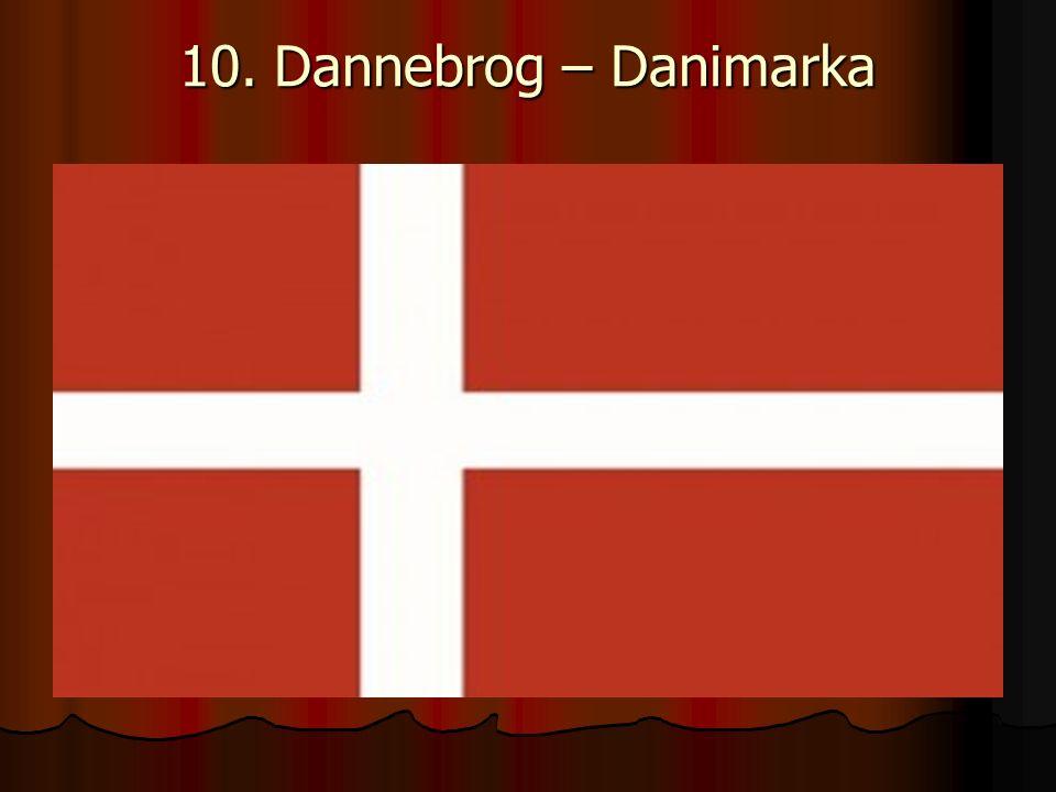 10. Dannebrog – Danimarka