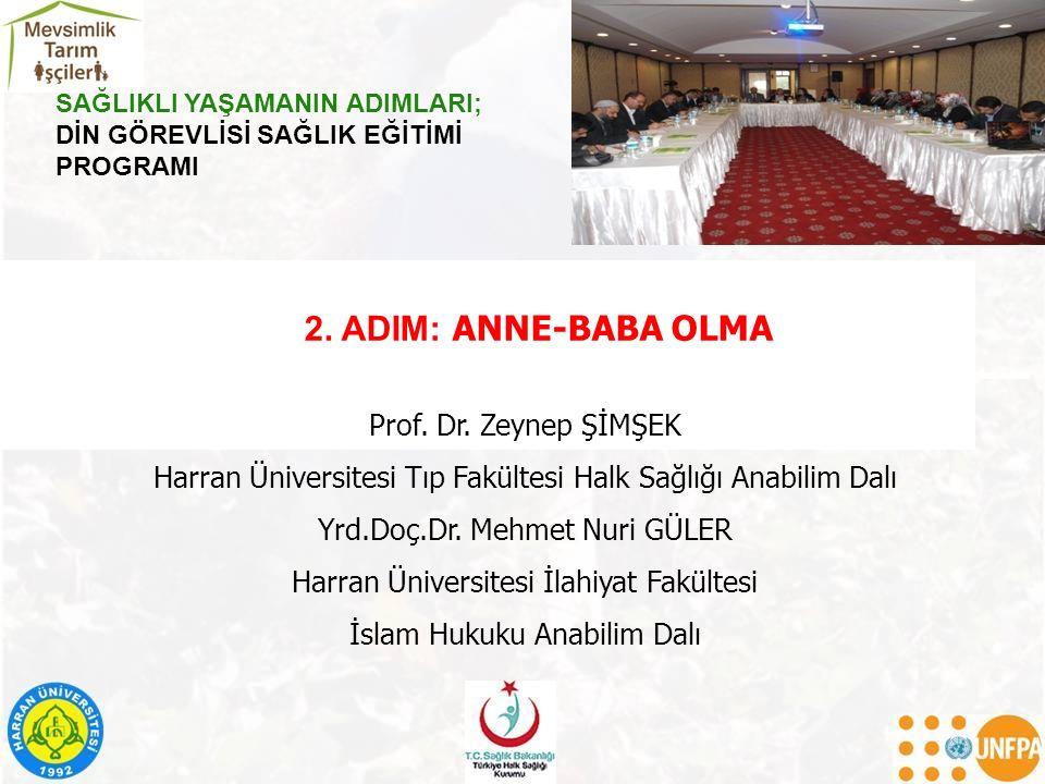 2. ADIM: ANNE-BABA OLMA Prof. Dr.