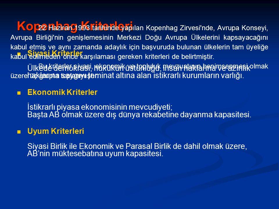 Türkiye – AB İlişkileri AB Müktesebatı Üye ülkeleri AB'ye bağlayan hukuk çerçevesi Müktesebat (Acquis Communitaires) adıyla anılır.