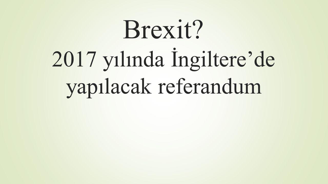 Brexit? 2017 yılında İngiltere'de yapılacak referandum