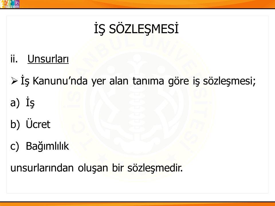 İŞ SÖZLEŞMESİ 3.