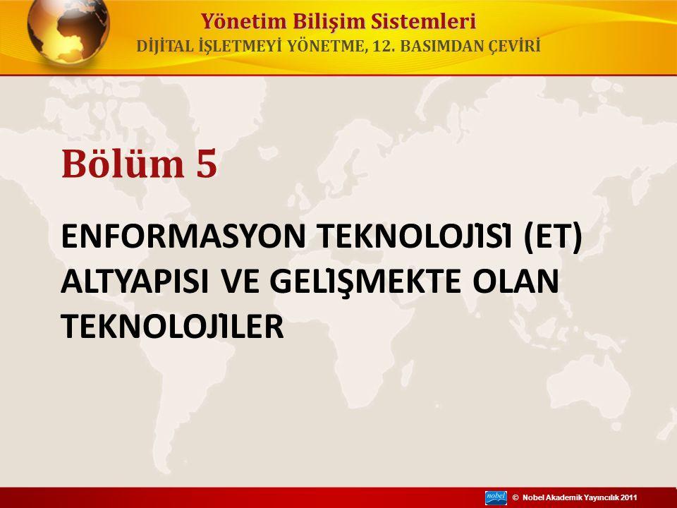 © Nobel Akademik Yayıncılık 2011 Yönetim Bilişim Sistemleri DİJİTAL İŞLETMEYİ YÖNETME, 12. BASIMDAN ÇEVİRİ ENFORMASYON TEKNOLOJİSİ (ET) ALTYAPISI VE