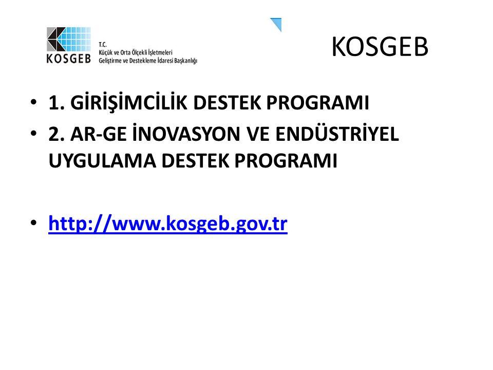 KOSGEB 1. GİRİŞİMCİLİK DESTEK PROGRAMI 2.