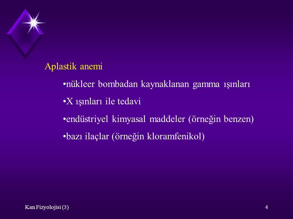 Kan Fizyolojisi (3)15 kalp debisi  aneminin etkisi kompanse edilmeye çalışılır.
