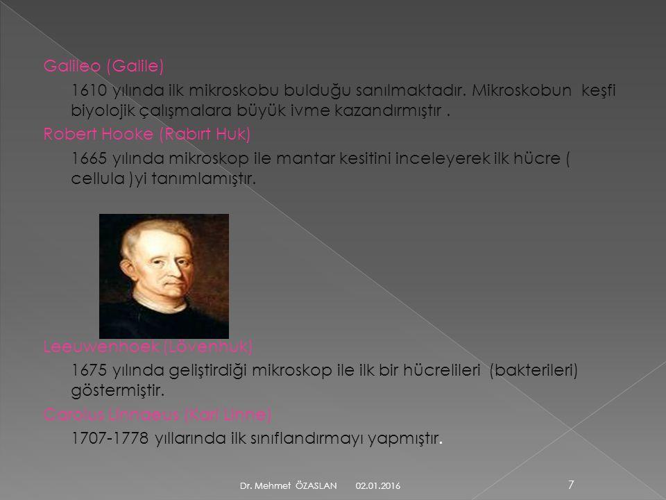 Galileo (Galile) 1610 yılında ilk mikroskobu bulduğu sanılmaktadır.