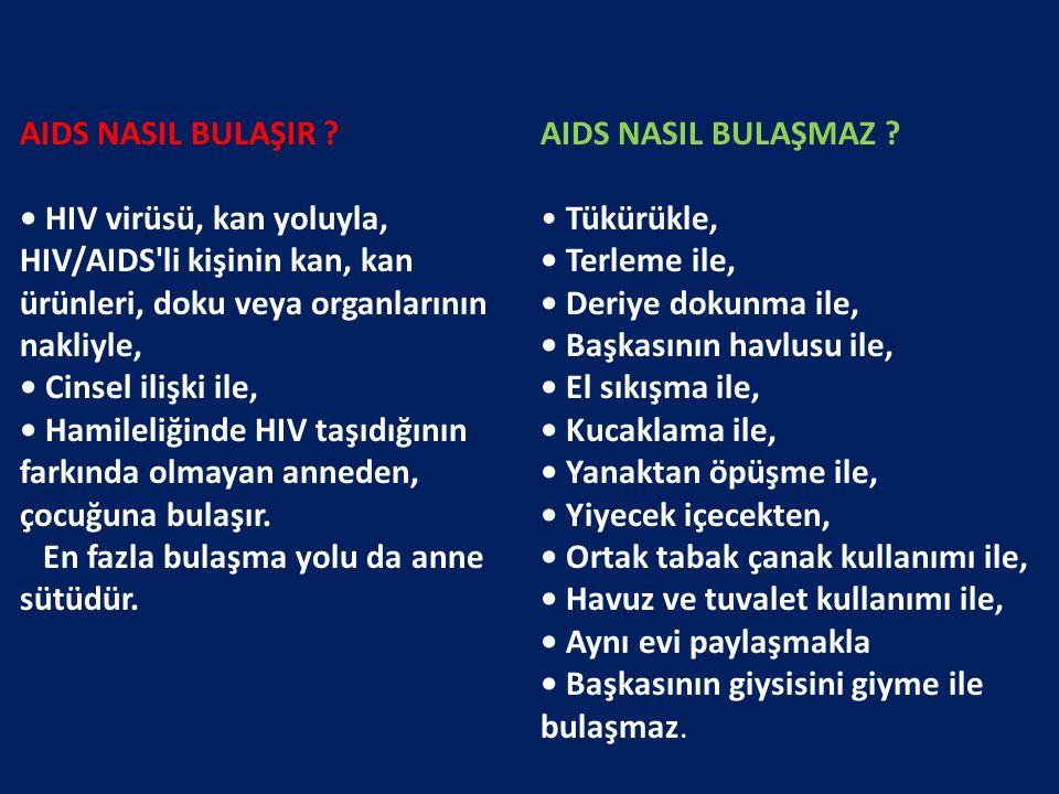 AIDS NASIL BULAŞMAZ .