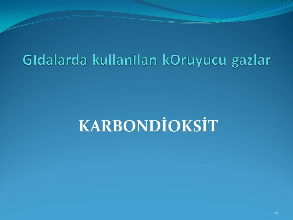 KARBONDİOKSİT 21