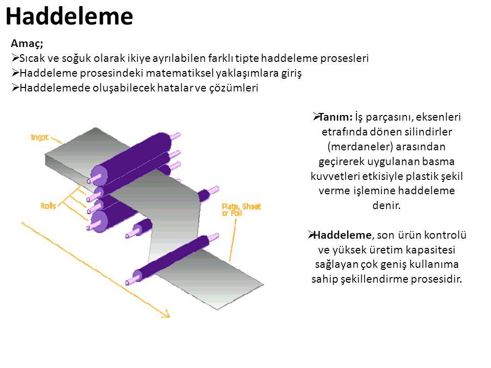 Dörtlü düzen merdane sistemlerinde iş merdanelerinin dikey doğrultuda eğilmeleri destek merdaneleri ile önlenebilmektedir.