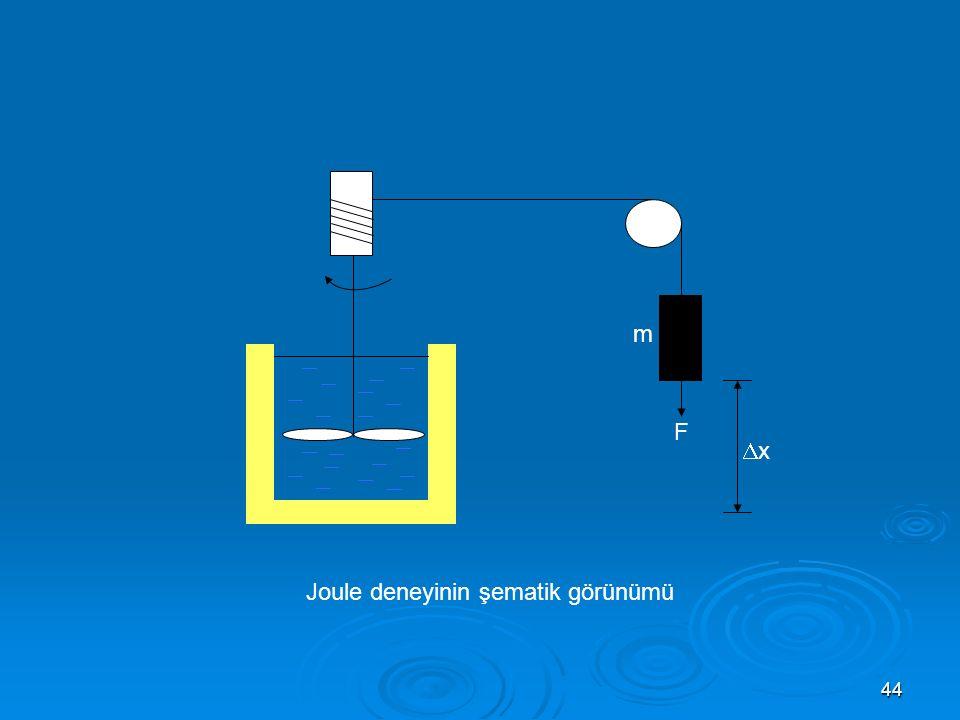 44 F m xx Joule deneyinin şematik görünümü