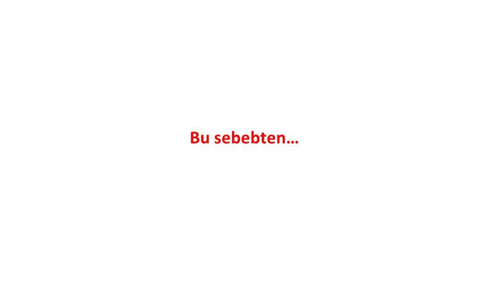 Bu sebebten…